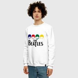 Свитшот хлопковый мужской The Beatles Heads цвета белый — фото 2