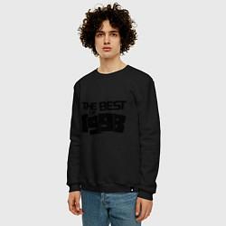 Свитшот хлопковый мужской The best of 1998 цвета черный — фото 2
