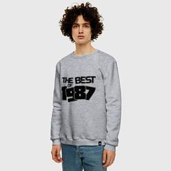 Свитшот хлопковый мужской The best of 1987 цвета меланж — фото 2