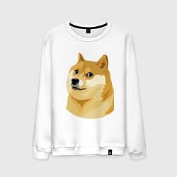 Свитшот хлопковый мужской Doge цвета белый — фото 1