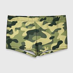 Мужские плавки Камуфляж: зеленый/хаки цвета 3D — фото 1