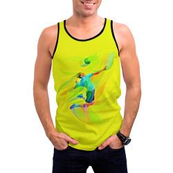 Майка-безрукавка мужская Волейбол цвета 3D-черный — фото 2