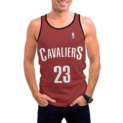 Майка-безрукавка мужская Cavaliers Cleveland 23: Red цвета 3D-черный — фото 2