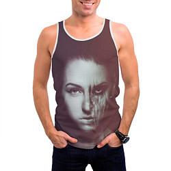 Майка-безрукавка мужская Chelsea Grin: Death Girl цвета 3D-белый — фото 2