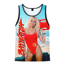Майка-безрукавка мужская Baywatch: Pamela Anderson цвета 3D-черный — фото 1