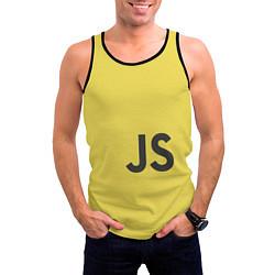Майка-безрукавка мужская JavaScript цвета 3D-черный — фото 2