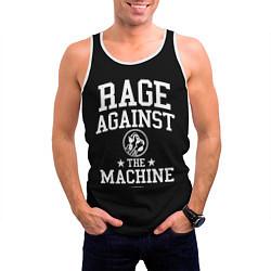Майка-безрукавка мужская Rage Against the Machine цвета 3D-белый — фото 2