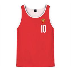 Майка-безрукавка мужская Сборная СССР по баскетболу цвета 3D-белый — фото 1