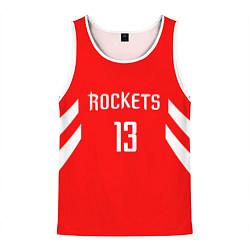 Мужская 3D-майка без рукавов с принтом Rockets: James Harden 13, цвет: 3D-белый, артикул: 10148515904123 — фото 1
