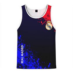 Майка-безрукавка мужская Real Madrid цвета 3D-белый — фото 1