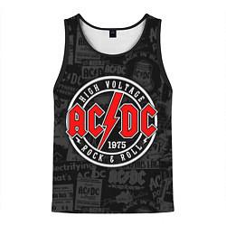Майка-безрукавка мужская AC DC HIGH VOLTAGE цвета 3D-черный — фото 1