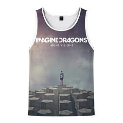 Майка-безрукавка мужская Imagine Dragons: Night Visions цвета 3D-белый — фото 1
