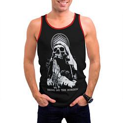 Майка-безрукавка мужская BMTH: Skull Pray цвета 3D-красный — фото 2