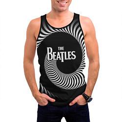Майка-безрукавка мужская The Beatles: Stereo Type цвета 3D-черный — фото 2