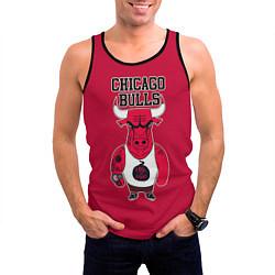 Мужская 3D-майка без рукавов с принтом Chicago bulls, цвет: 3D-черный, артикул: 10081365804123 — фото 2