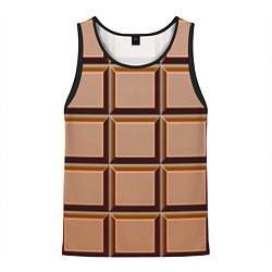 Майка-безрукавка мужская Шоколад цвета 3D-черный — фото 1