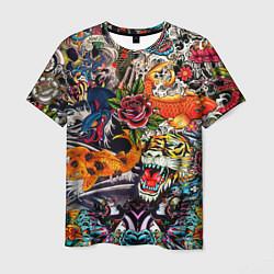 Мужская 3D-футболка с принтом Dsquared tatoo, цвет: 3D, артикул: 10103677103301 — фото 1