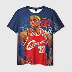 Мужская 3D-футболка с принтом LeBron 23: Cleveland, цвет: 3D, артикул: 10105825703301 — фото 1