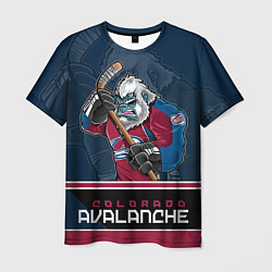 Футболка мужская Colorado Avalanche цвета 3D-принт — фото 1