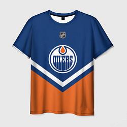 Футболка мужская NHL: Edmonton Oilers цвета 3D-принт — фото 1