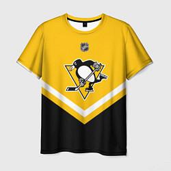 Футболка мужская NHL: Pittsburgh Penguins цвета 3D-принт — фото 1