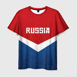 Футболка мужская Russia Team цвета 3D-принт — фото 1