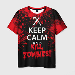 Футболка мужская Keep Calm & Kill Zombies цвета 3D — фото 1
