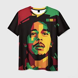 Футболка мужская Боб Марли цвета 3D — фото 1