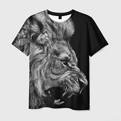 Футболка мужская Оскал льва цвета 3D-принт — фото 1