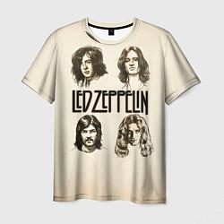 Футболка мужская Led Zeppelin Guys цвета 3D-принт — фото 1