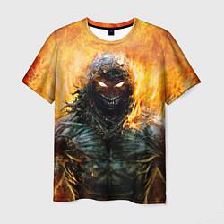 Футболка мужская Disturbed: Monster Flame цвета 3D-принт — фото 1