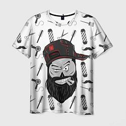 Футболка мужская Барбер Борода цвета 3D — фото 1