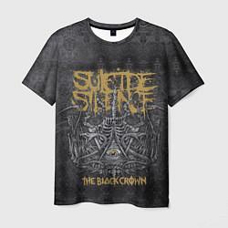 Футболка мужская Suicide Silence: The Black Crown цвета 3D — фото 1