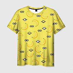 Футболка мужская Банановые миньоны цвета 3D — фото 1