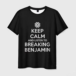 Футболка мужская Keep Calm & Breaking Benjamin цвета 3D — фото 1