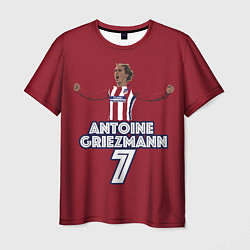Мужская 3D-футболка с принтом Antoine Griezmann 7, цвет: 3D, артикул: 10139224503301 — фото 1