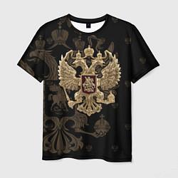 Футболка мужская Золотой Герб России цвета 3D — фото 1