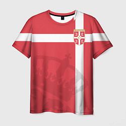 Футболка мужская Сборная Сербии цвета 3D — фото 1