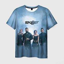 Мужская 3D-футболка с принтом Skillet: Smoke, цвет: 3D, артикул: 10142756903301 — фото 1