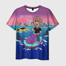 Футболка мужская Lil Pump on the water цвета 3D — фото 1