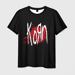 Футболка мужская Korn: Blood цвета 3D — фото 1