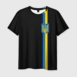 Футболка мужская Украина цвета 3D — фото 1