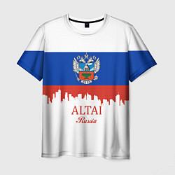 Футболка мужская Altai: Russia цвета 3D — фото 1