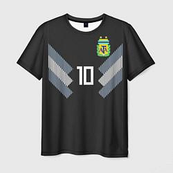 Футболка мужская Аргентина: Месси гостевая ЧМ-2018 цвета 3D-принт — фото 1