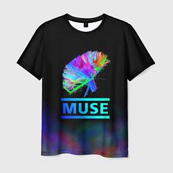 Футболка мужская Muse: Neon Flower цвета 3D — фото 1