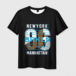 Футболка мужская New York: Manhattan 86 цвета 3D-принт — фото 1