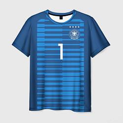 Футболка мужская Нойер ЧМ-2018 цвета 3D — фото 1