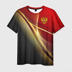 Футболка мужская RUSSIA SPORT: Gold Collection цвета 3D — фото 1