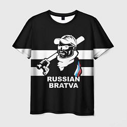 Футболка мужская RUSSIAN BRATVA цвета 3D — фото 1