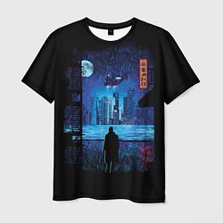 Футболка мужская Blade Runner: Dark Night цвета 3D — фото 1